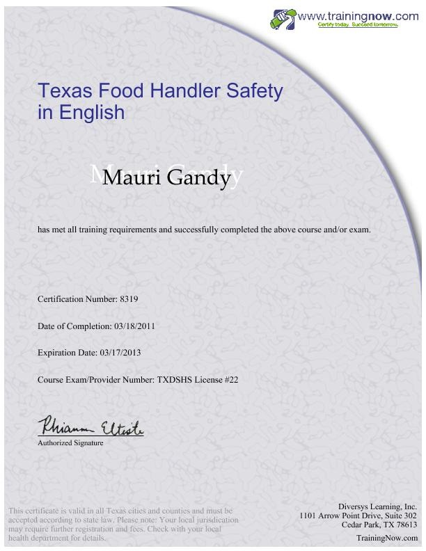 TABC - Texas Alcohol Beverage Certificate